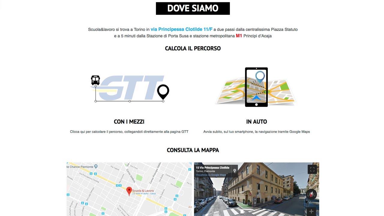 Pagina Contatti - Sito web - Scuola e Lavoro