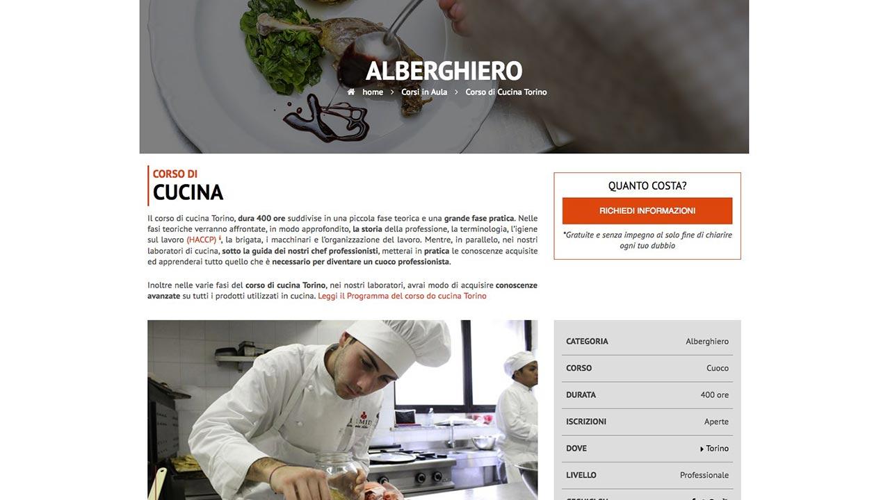Pagina Corso - Sito web - Scuola e Lavoro