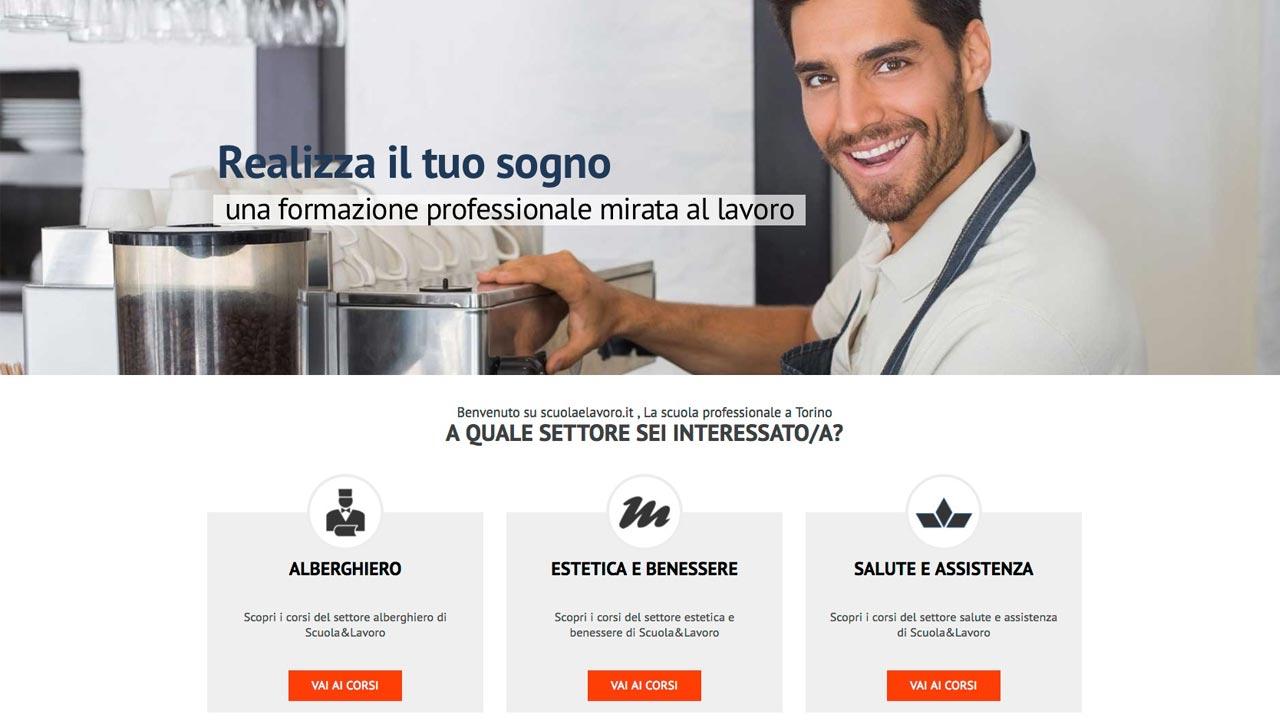 Home page Personalizzata - Sito web - Scuola e Lavoro