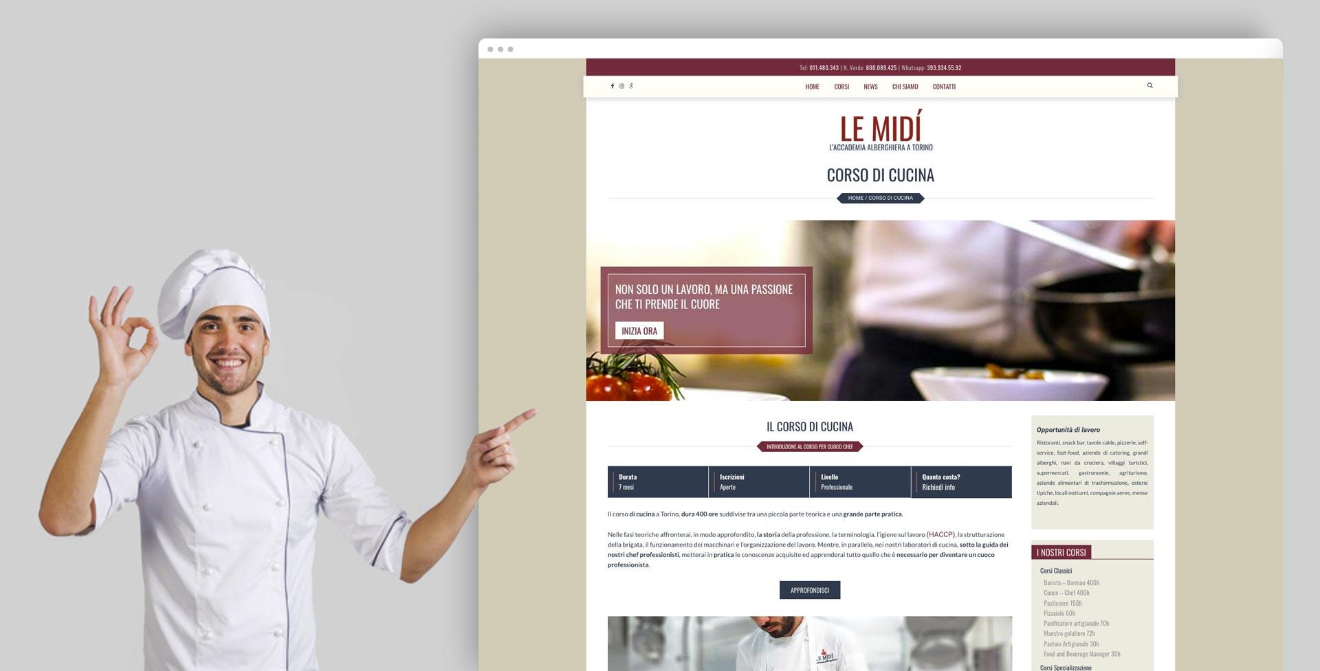 Sito Web Accademia Alberghiera Le Midì Torino Pagina Corso