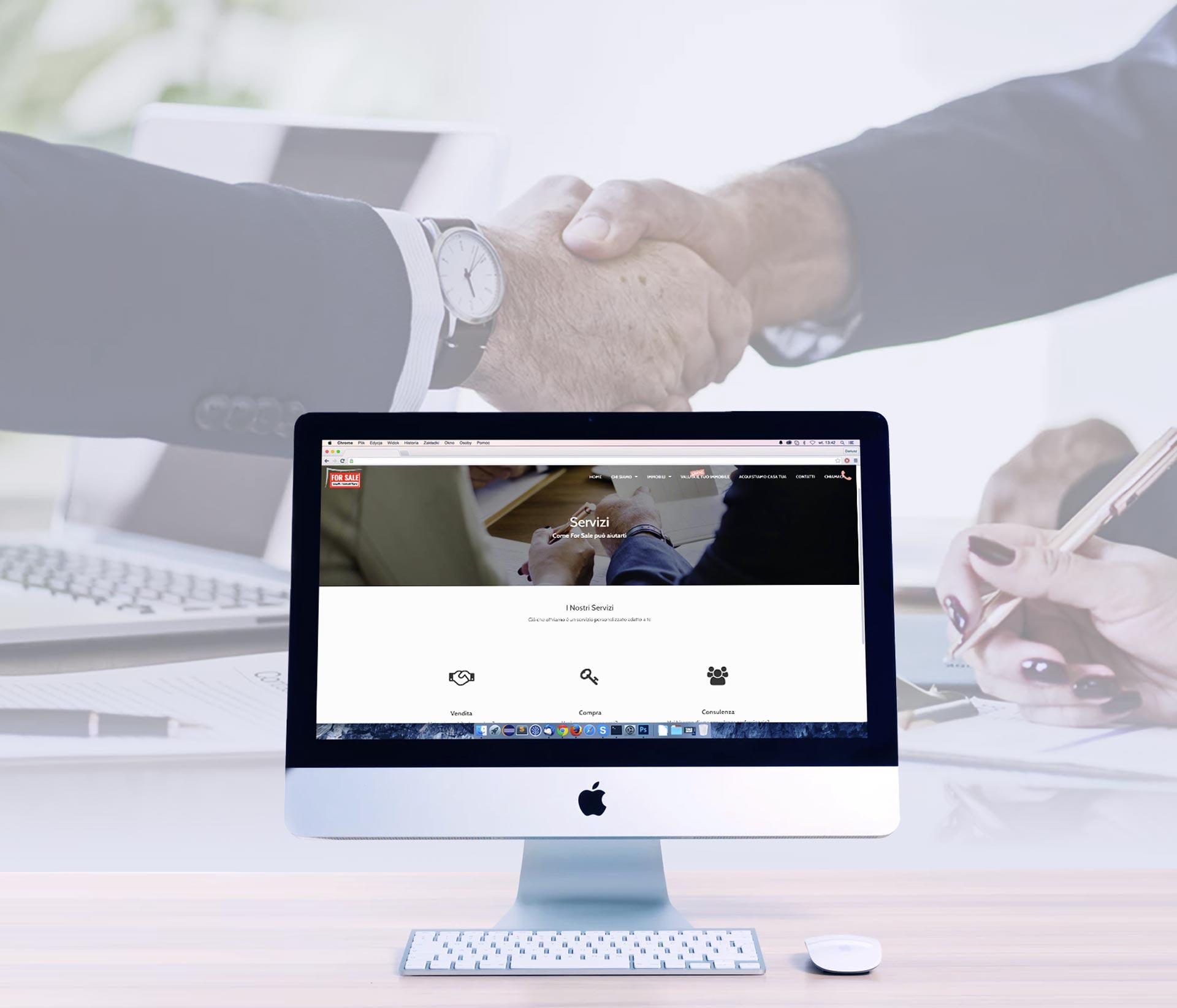 Sito web Mono pagina For Sale Studio Immobiliare Rivoli pagina servizi